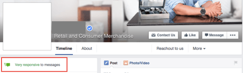 Facebook business page suffices