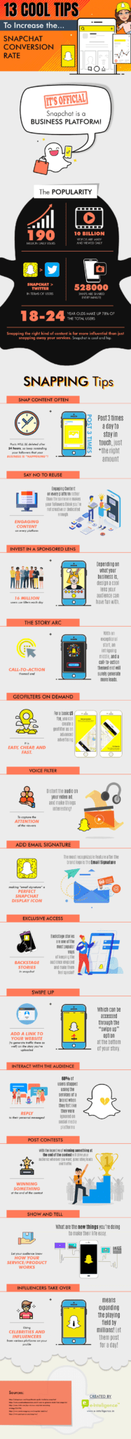 Tips to Increase Snapchat Conversion Rate- infographic